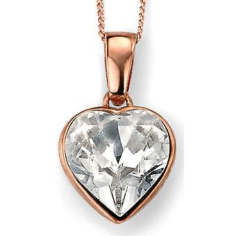 925 Silver Rose Gold Plated Swarovski Crystal Necklace Trend And