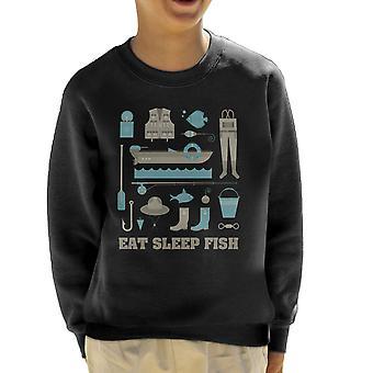 Spis Sleep fisk fiskeri Equiptment børne Sweatshirt