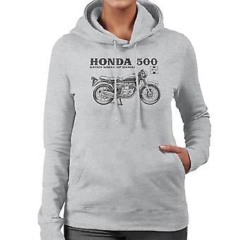 Haynes Owners Workshop Manual Honda 500 vrouwen Hooded Sweatshirt