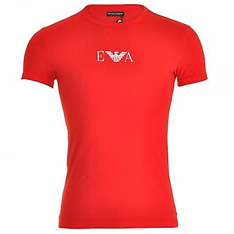 Emporio Armani Fashion Stretch-Baumwolle Rundhals T-Shirt, rot, Medium