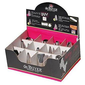 De Buyer Pastry Box - 60 Boquillas (Home , Kitchen , Bakery , Decoration , Mouthpiece)