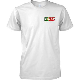 Portugal Grunge Country Name Flag Effect - Kids Chest Design T-Shirt
