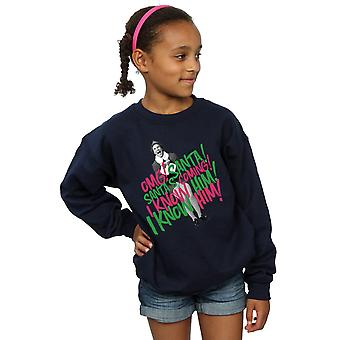 Elf Girls Santa's Coming Sweatshirt