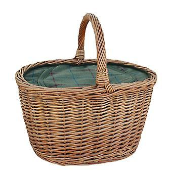 Ovaler Weidenkorb mit Zip Kühltasche