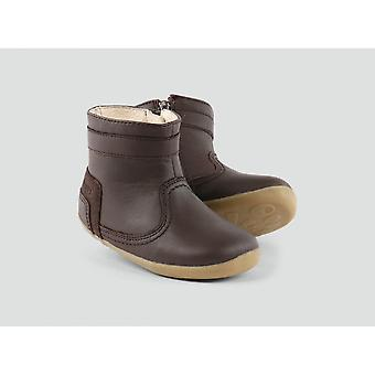 Bobux Bolt Boot Brown Leather With Wool Lining