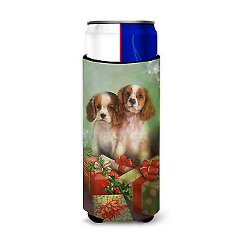 Cavalier Spaniels and Christmas Presents Ultra Beverage Insulators for slim cans