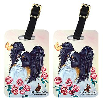 Carolines Treasures  7236BT Pair of 2 Papillon Luggage Tags