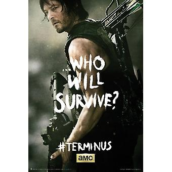 The Walking Dead Terminus Daryl Poster Poster Print