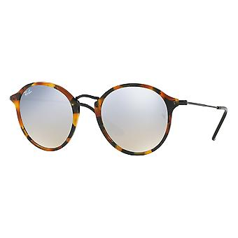 Ray - Ban Round Fleck wide Havana mirrored grey Black Spotted silver