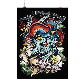 Matte of glanzende Poster met Clown Dice Poker Horror | Wellcoda | * d2416