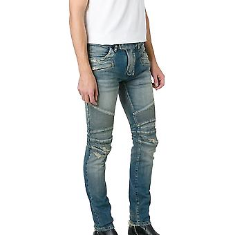 Balmain men POHT551C710V155 Blau cotton of jeans