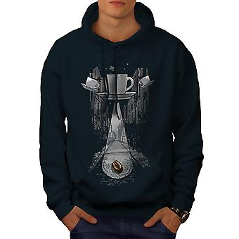 Coffee Cup Being Fantasy Men NavyHoodie | Wellcoda