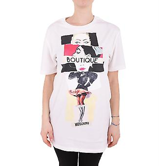 Boutique Moschino ladies A120158401002 white cotton T-Shirt