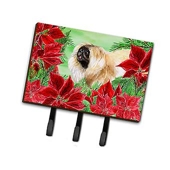 Carolines Treasures  CK1329TH68 Pekingese Poinsettas Leash or Key Holder