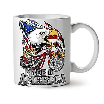 Made In America NEW White Tea Coffee Ceramic Mug 11 oz   Wellcoda