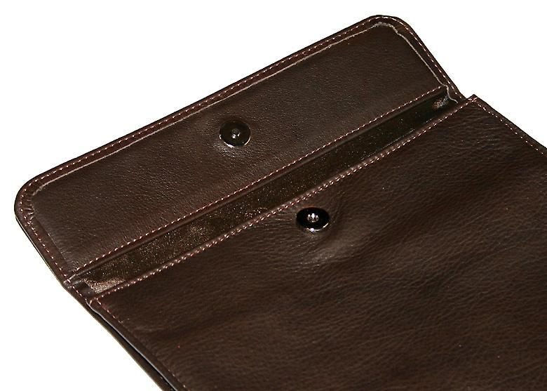 Luxuriöse Chocolate Leather & Silk iPad Abdeckung