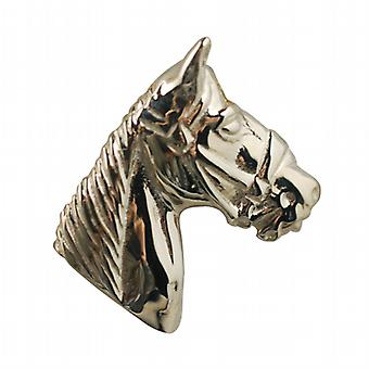 9ct Gold 15x15mm Horse Head Pendant