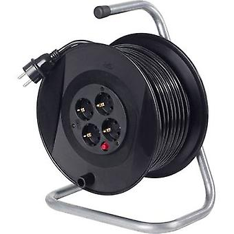 Cable reel 20 m Black PG plug as - Schwabe 11103