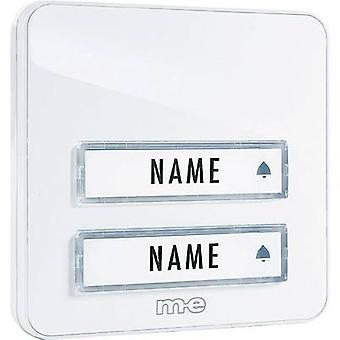Bell panel with nameplate 2x m-e modern-electronics KTA-2 W