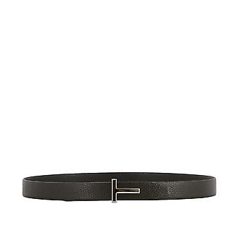 Tom Ford men's TB224PCL8DBK brown leather belt