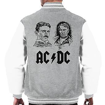 ACDC Thomas Edison Tesla Men's Varsity Jacket