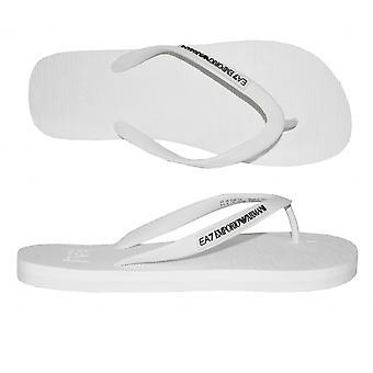 Emporio Armani EA7 Classic Flip Flops, vit
