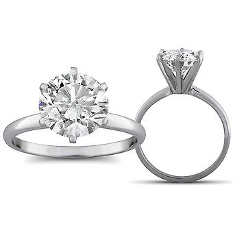 2 1 / 2ct Diamond Solitaire verlovingsring 14K White Gold