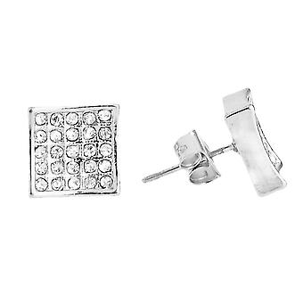 Bling Iced Out Ohrstecker - SQUARE 10mm
