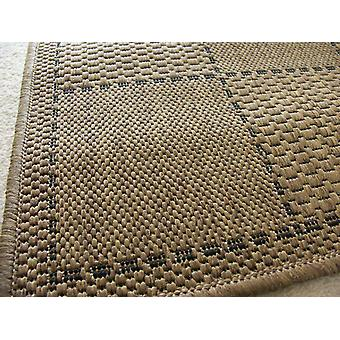Checked Flatweave Natural oscuro amarillento Rectangle Alfombras Plain / Casi Plain Alfombras