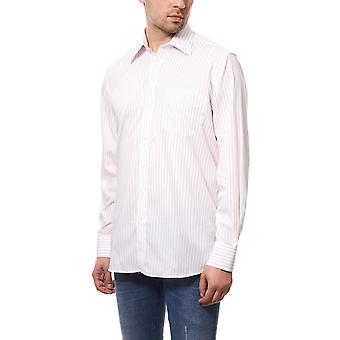 DERBY OF SWEDEN shirt men's pin-striped shirt White Jersey