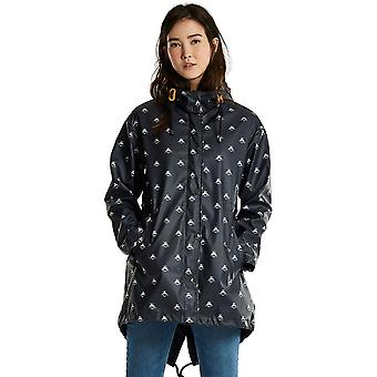 Joules Womens/Ladies Mistralprint Rubber Waterproof Parka Jacket Coat