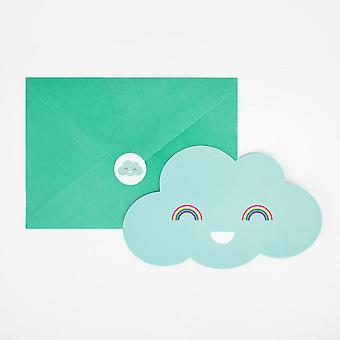 Clouds Party Invitations Pack of 8 Birthday Baby Shower with Envelopes