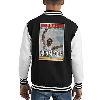 Sporting Legends Poster England Daley Thompson Champion 1984 Olympics Kid's Varsity Jacket