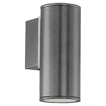 Eglo Riga Exterior Down Wall Light In Anthracite