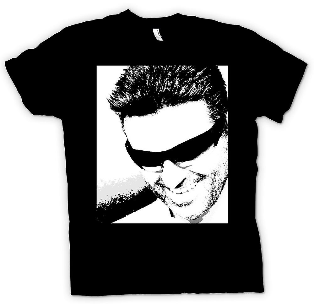 Herr T-shirt - George Michael - Pop Art - porträtt