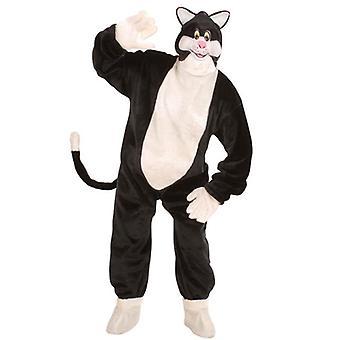 Plysch katt kostym (dräkt handskar sko täcker Mask)