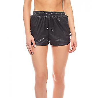 Art pieces, leather of shorts new imitated black
