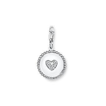 s.Oliver jewel ladies charm heart silver cubic zirconia SOCHA/243-508858