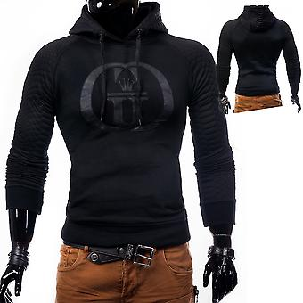 Men's Hoodie Hoody Sweatshirt with imprint Murray black