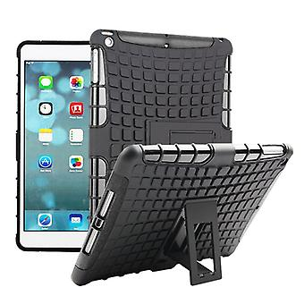 For Apple iPad 9.7 2018 hybrid outdoor protective cover case Black pouch cover case