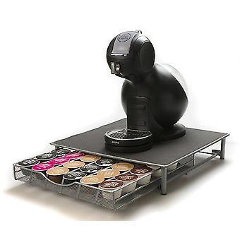 Superior Quality Dolce Gusto compatible Coffee Capsule Stand And Drawer For 36 Pods - Grey