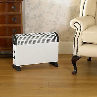 2000W White Convection Heater Free-Standing or Wall Mountable