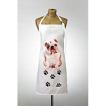 Delantal de diseño adorable bulldog británico