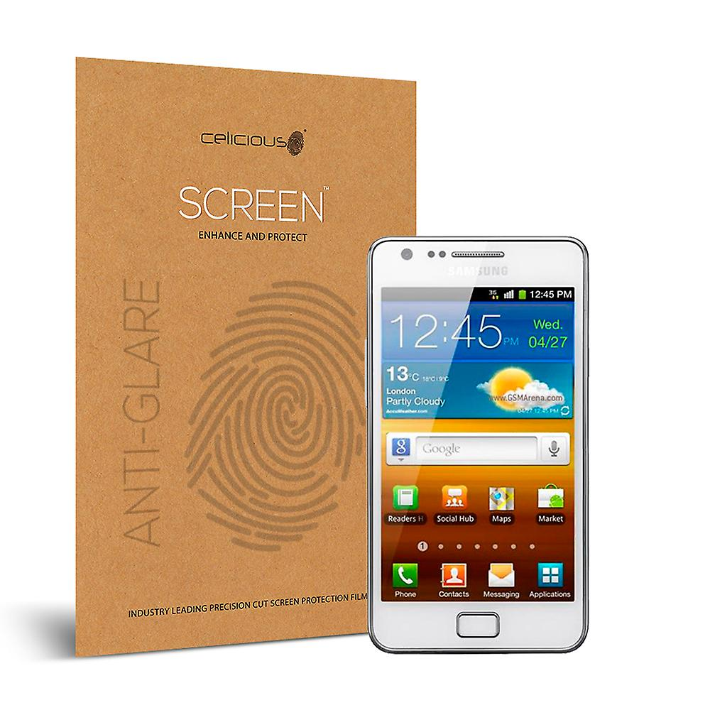 Celicious Matte Anti-Glare Screen Protector Film Compatible with Samsung Galaxy S2 [Pack of 2]