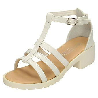 Girls Spot On Heeled Strappy Sandals H1065