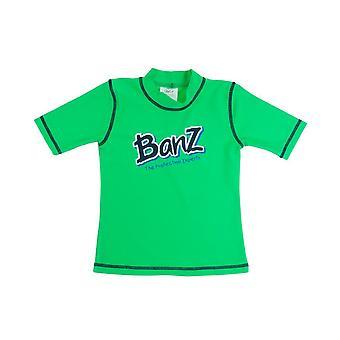 Banz 儿童紫外线短袖皮疹顶石灰绿色