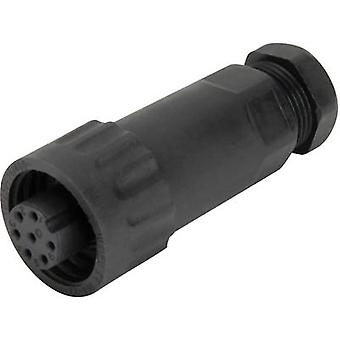 Weipu 814058 Bullet connector Socket, straight Series (connectors): WA Total number of pins: 6 + PE 1 pc(s)