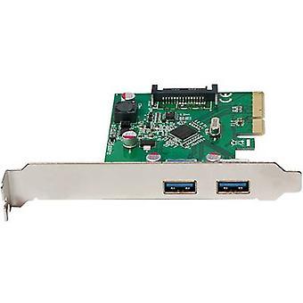 LogiLink PC0080 2 Anschlüsse USB 3.1 Controller Karte USB Typ A PCIe