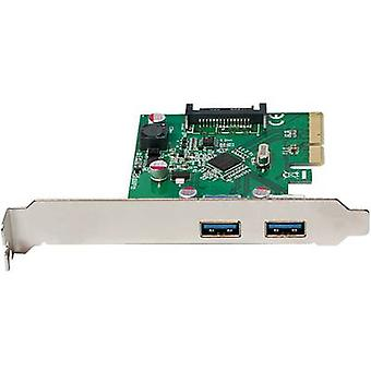 2 porter USB 3.1 kontrolleren kortet USB type A PCIe LogiLink PC0080