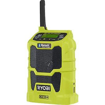 Ryobi R18R-0 One+ FM werkplek radio Bluetooth, USB, AUX licht groen